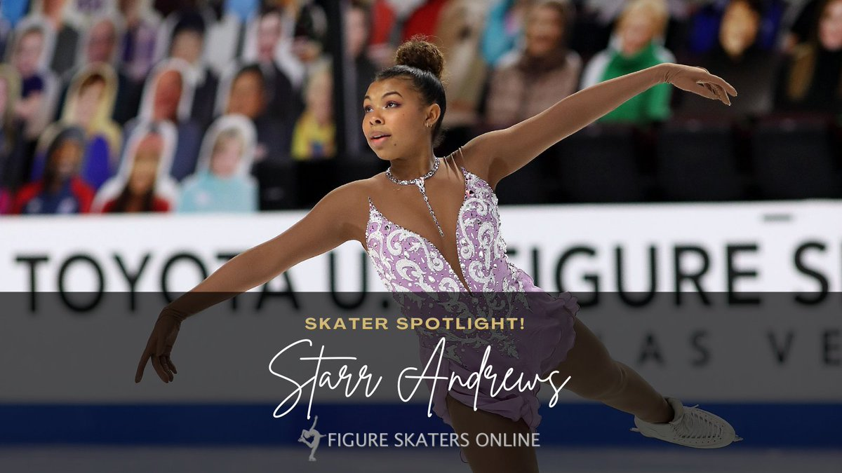 Our Skater Spotlight today is @Skating_Starr, who finished in 12th at the #ToyotaUSChamps21. She is the first recipient of the Mabel Fairbanks Skatingly Yours Fund, which supports the training of Black, Indigenous & People of Color figure skaters. Photos: starrandrews.figureskatersonline.com/media/photos/