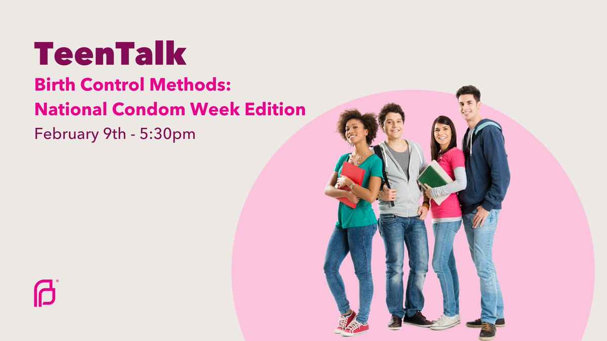 At PP, we know that getting the info you need about sexual&reproductive health care can be difficult when you're a teenager. Join us on 02/09 @ 5:30pm to discuss pregnancy prevention methods for National Condom Week. No judgment, just the facts. Register: .