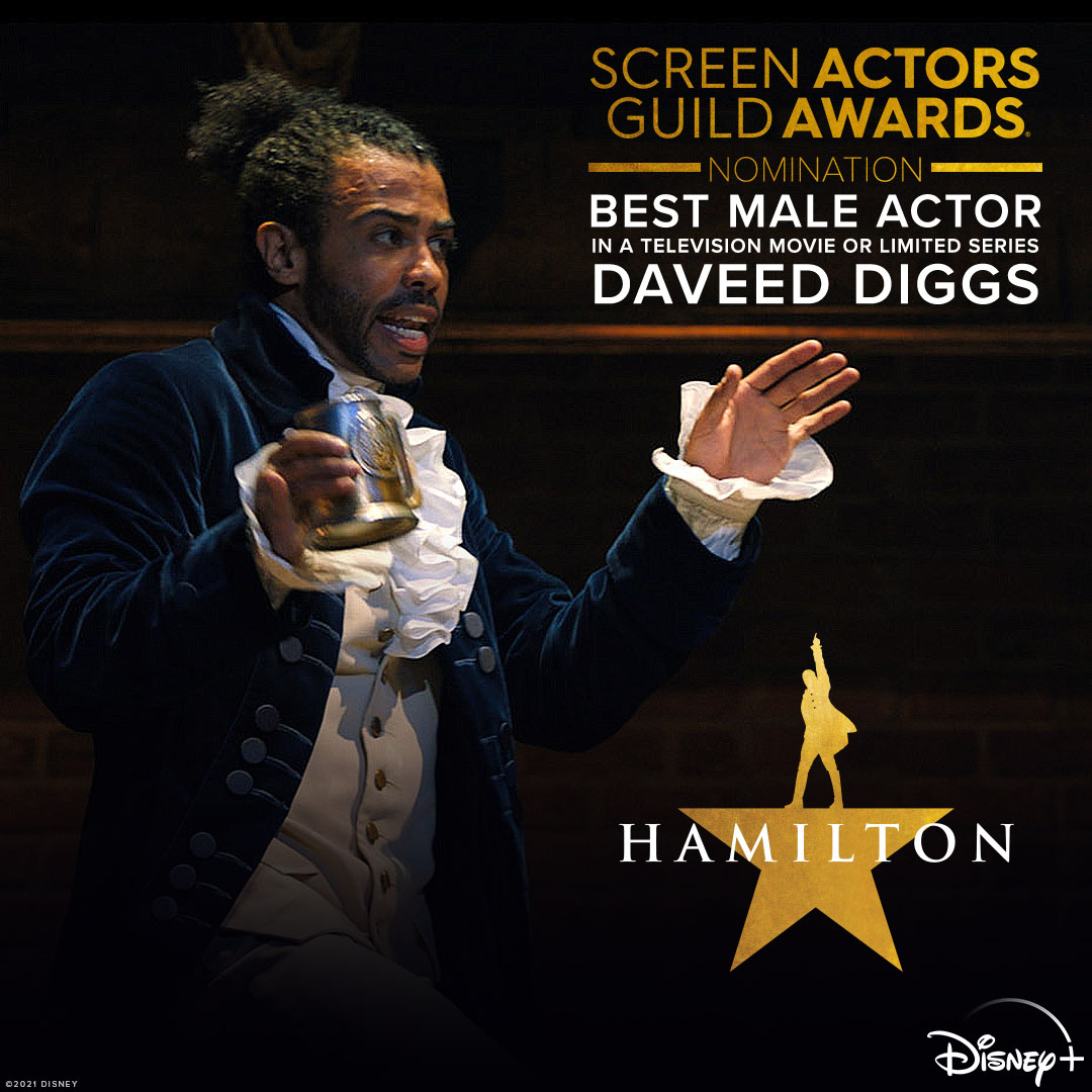 Congratulations to Daveed Diggs for his #SAGawards nomination for Best Male Actor in a Television Movie or Limited Series!