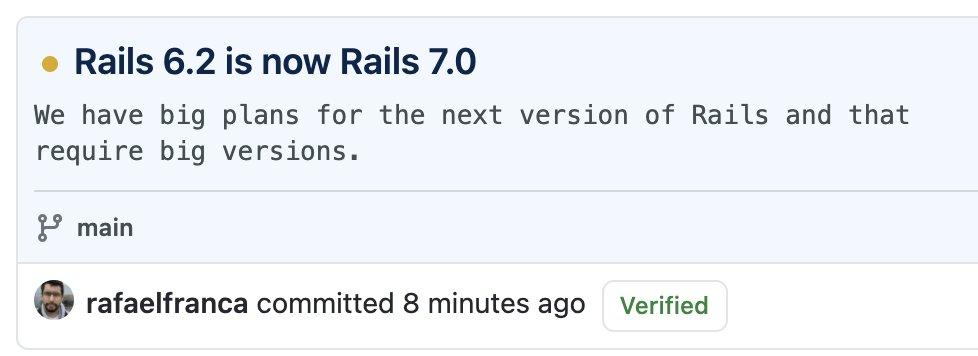 Rails7がスタートした 👏