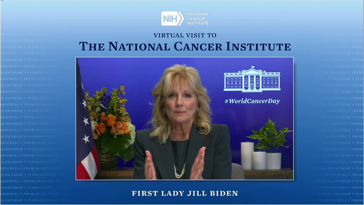 Cancer can be such a lonely, difficult journey for patients, loved ones who care for them, and the providers and researchers who work hard for them.   On #WorldCancerDay, I want you to know Joe and I are here for you and will never stop fighting for you.