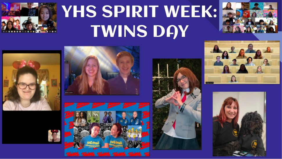 Spirit Day Twins Day was great. Wrapping up winter Spirit Week with Share the LOVE Day on Friday! <a target='_blank' href='http://search.twitter.com/search?q=PatriotProud'><a target='_blank' href='https://twitter.com/hashtag/PatriotProud?src=hash'>#PatriotProud</a></a> <a target='_blank' href='http://search.twitter.com/search?q=YorktownROCS'><a target='_blank' href='https://twitter.com/hashtag/YorktownROCS?src=hash'>#YorktownROCS</a></a> <a target='_blank' href='http://twitter.com/YorktownHS'>@YorktownHS</a> <a target='_blank' href='http://twitter.com/yhssports'>@yhssports</a> <a target='_blank' href='http://twitter.com/Principal_YHS'>@Principal_YHS</a> <a target='_blank' href='http://twitter.com/YorktownAPs'>@YorktownAPs</a> <a target='_blank' href='http://twitter.com/YorktownYB'>@YorktownYB</a> <a target='_blank' href='http://twitter.com/YorktownSentry'>@YorktownSentry</a> <a target='_blank' href='https://t.co/IO1N8JbeKi'>https://t.co/IO1N8JbeKi</a>
