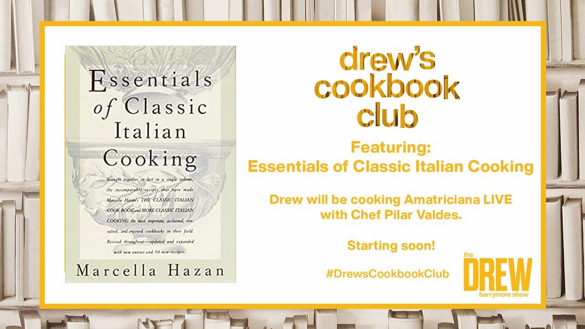 Join @DrewBarrymore & Chef Pilar Valdes for #DrewsCookbookClub - LIVE on Facebook! 🚨 Watch: