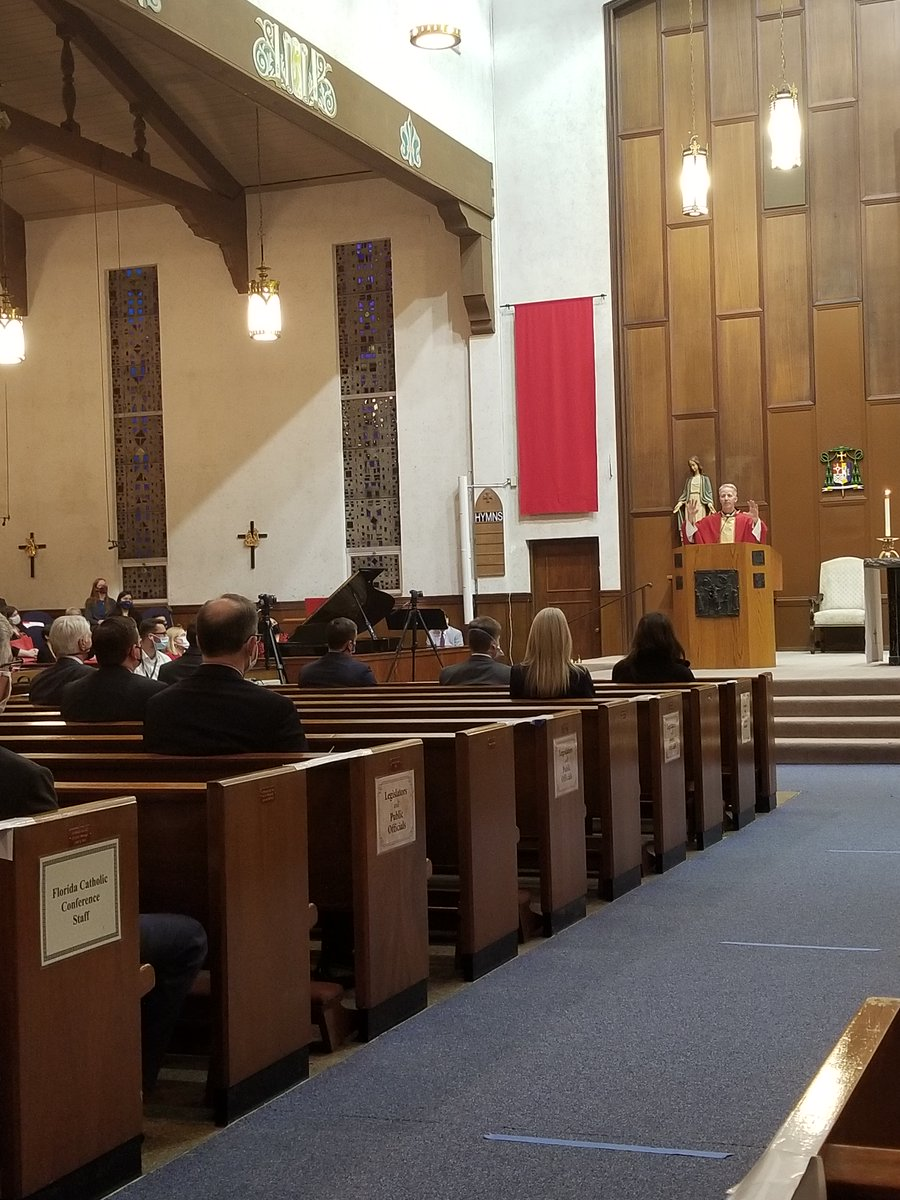 Yesterday evening, 2-3-2021, #FloridaVoiceForTheUnborn Executive Director @realAShirvell attended the 46th Annual Red Mass of the #HolySpirit @stmcocathedral.  Despite the pandemic, several legislators were present.  Let's continue to PRAY for all of 'em! #FlaPol #Sayfie #ProLife