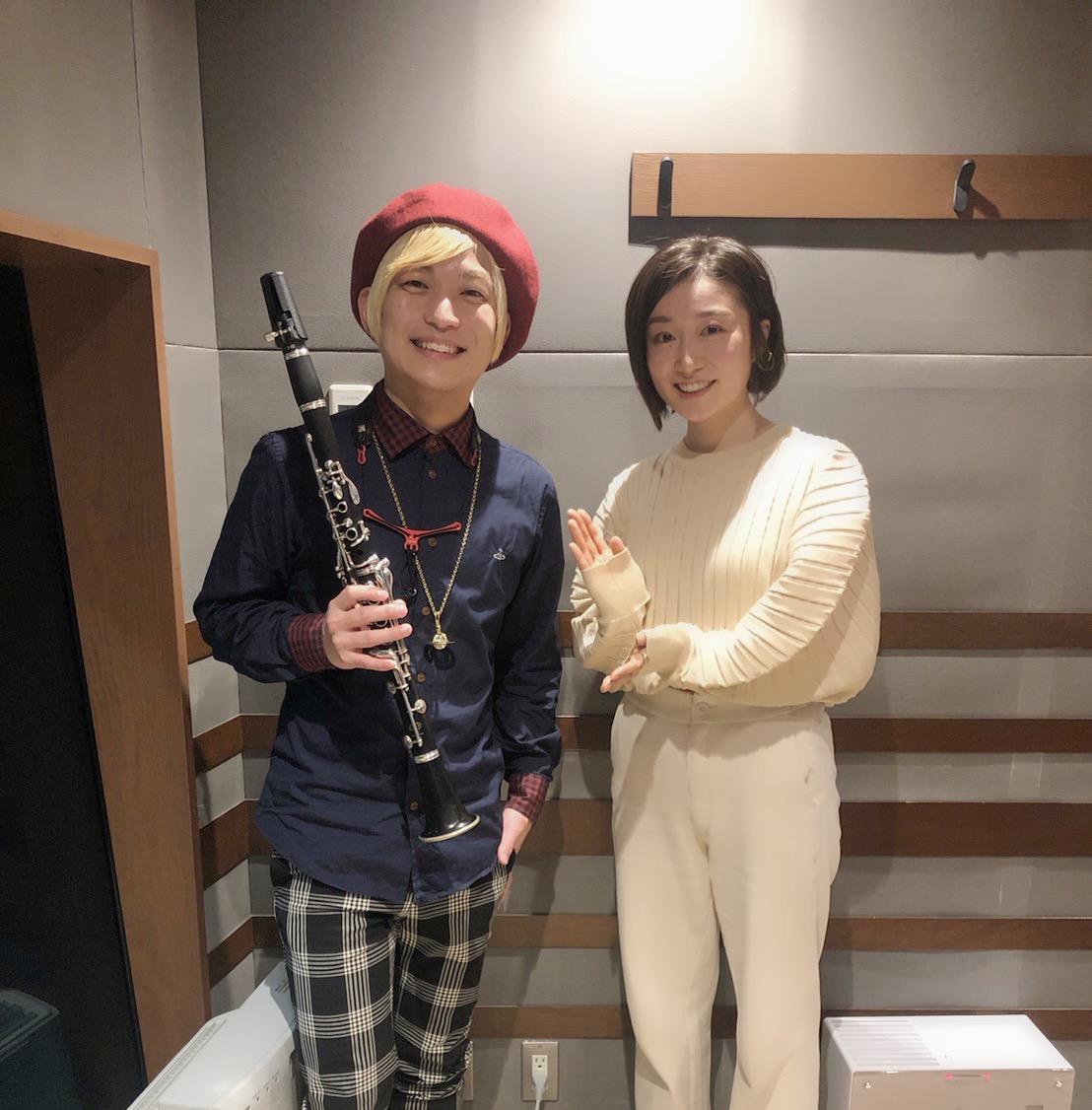 「オヒル ノオト」今日は、サックス、クラリネット奏者の辻本美博さん( @tsuujiimot)をお迎えしました。ありがとうございました!♬2/24にクラリネット奏者としてのデビュー作品『Vermilion』がリリースされます!詳細はこちら!⇒#otonote
