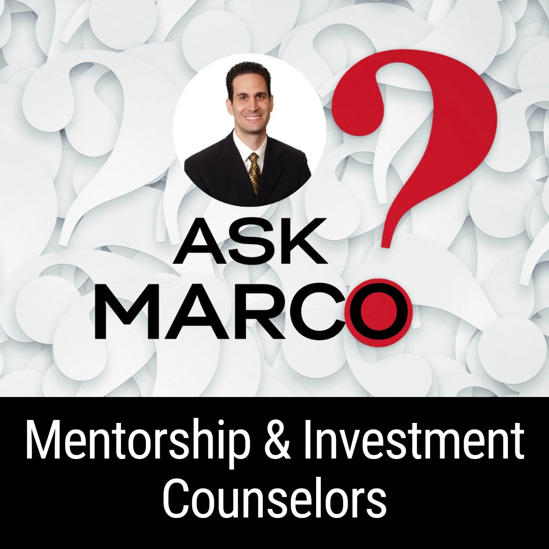 Podcast Episode: Mentorship & Investment Counselors 🔗   #AskMarco #mentorship #podcast #investing #passiverealestateinvesting #marcosantarelli #coaching #investmentcouncilors #noradarealestate