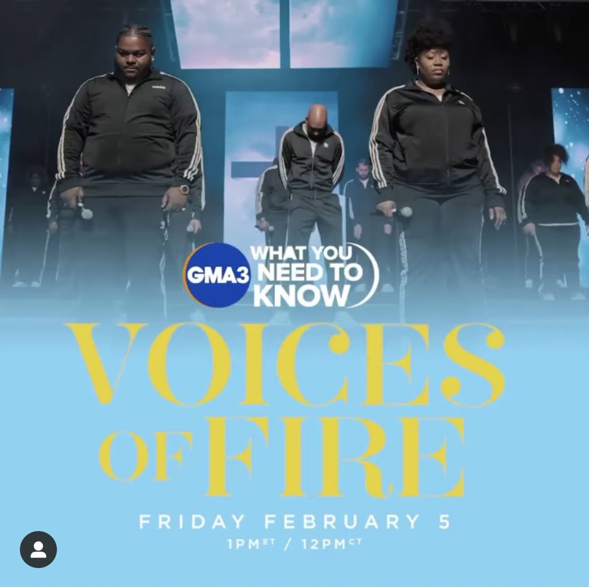 """Less  than an hour away from @voicesoffire single """"Hit The Refresh"""" dropping! Download your copy & help us celebrate by watching us on @abcgma3 TOMORROW! Tune in! 1PM EST/ 12PM CST 🔥  #HitTheRefresh🔄 #voicesoffire"""