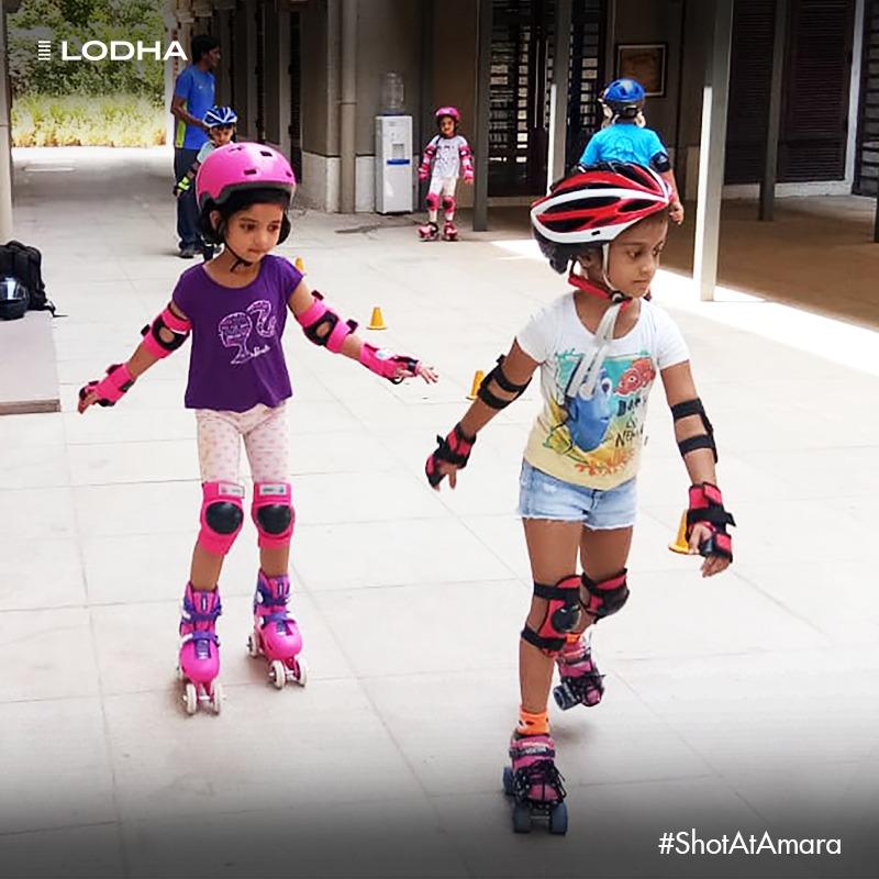 Skating around in the safety of #ApnaGhar! #LodhaAmara #BuildingABetterLife #LifeAtLodha