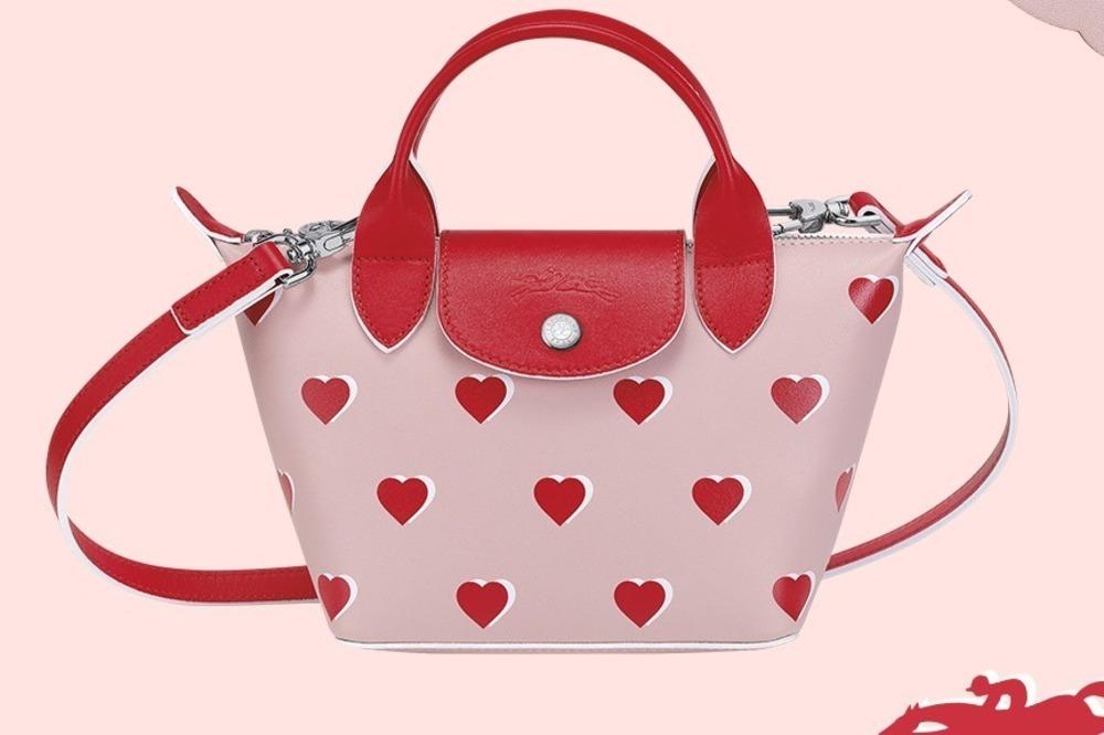 """ロンシャンの""""真っ赤なハート柄""""バレンタイン限定バッグ「ル プリアージュ キュイール」 -"""