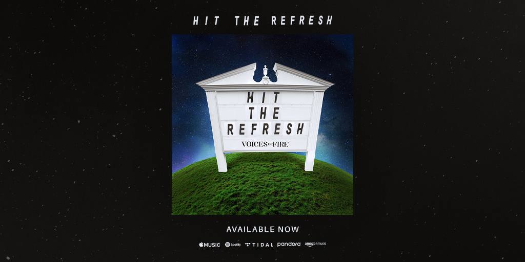 Our debut single #HitTheRefresh🔄 is available now!  Listen here:   #VoicesOfFire