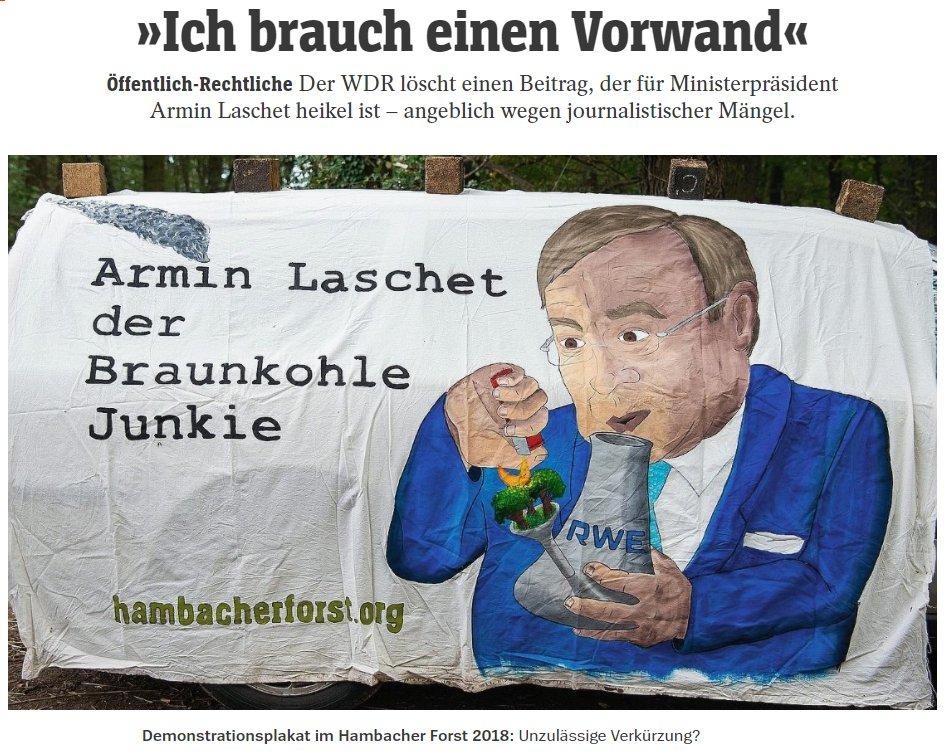 Der @WDR löschte einen Beitrag, der für Armin Laschet heikel ist – angeblich wegen journalistisc…