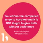 Image for the Tweet beginning: Day 5 #BasicBirthRights #TheBottomLine campaign: