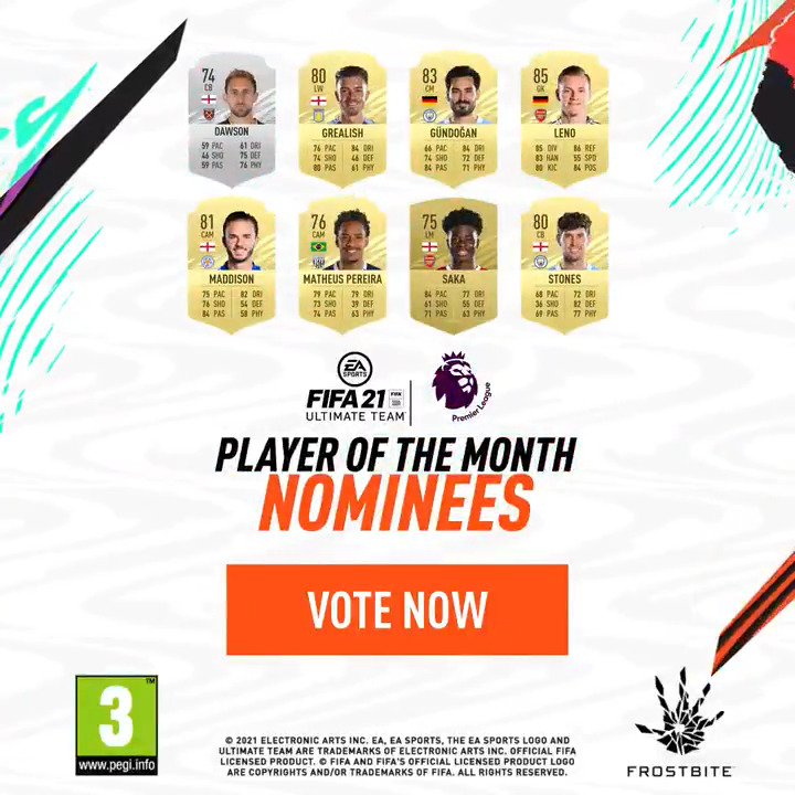 Introducing your @premierleague #POTM nominees for January 2021 🙌  Vote now ➡️   #FIFA21 #FUT #PLAwards