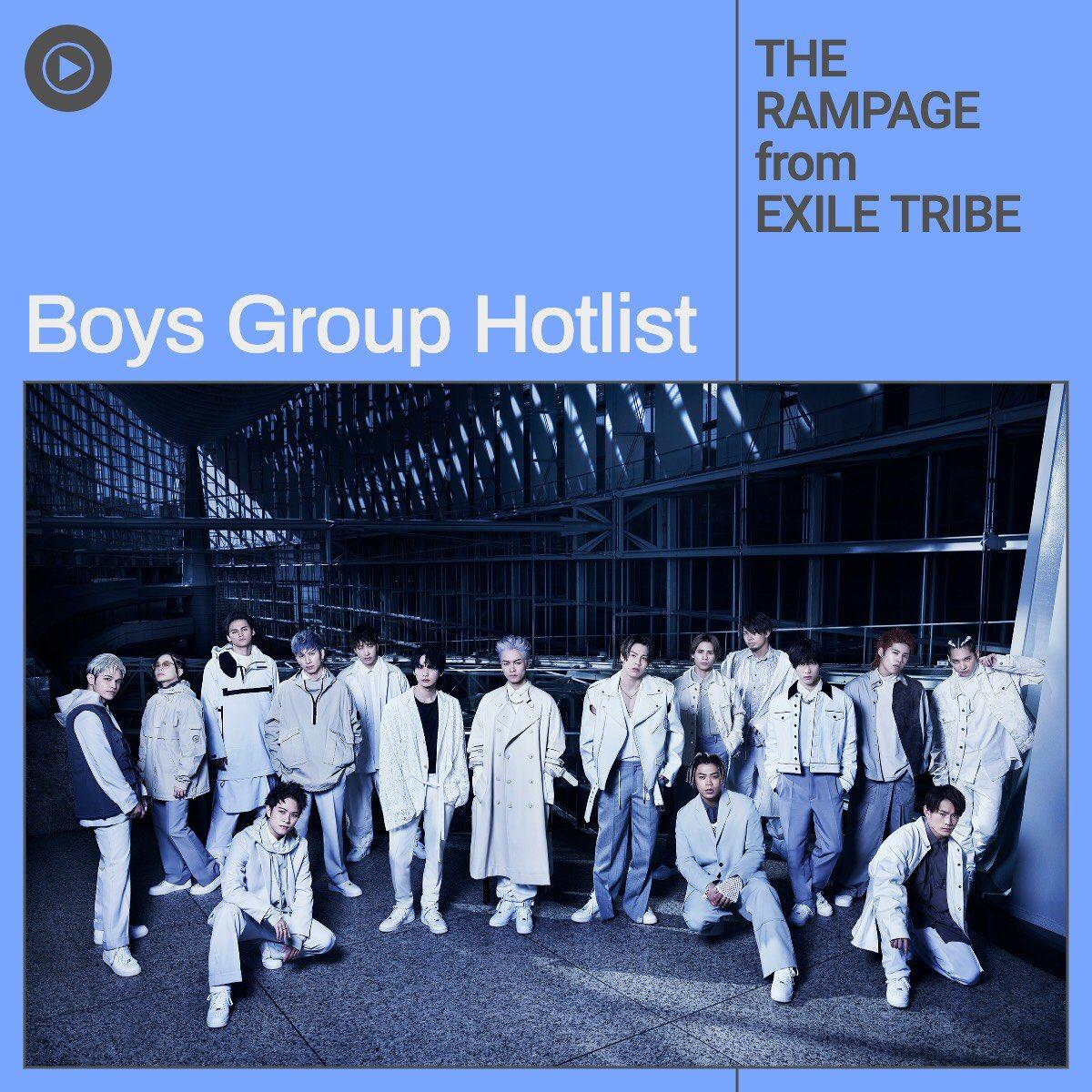 アルバムリード曲「SILVER RAIN」配信中‼️#YouTubeMusic のプレイリスト「Boys Group Hotlist」では、THE RAMPAGEがカバーに起用されていますので、是非チェックしてみてください✨