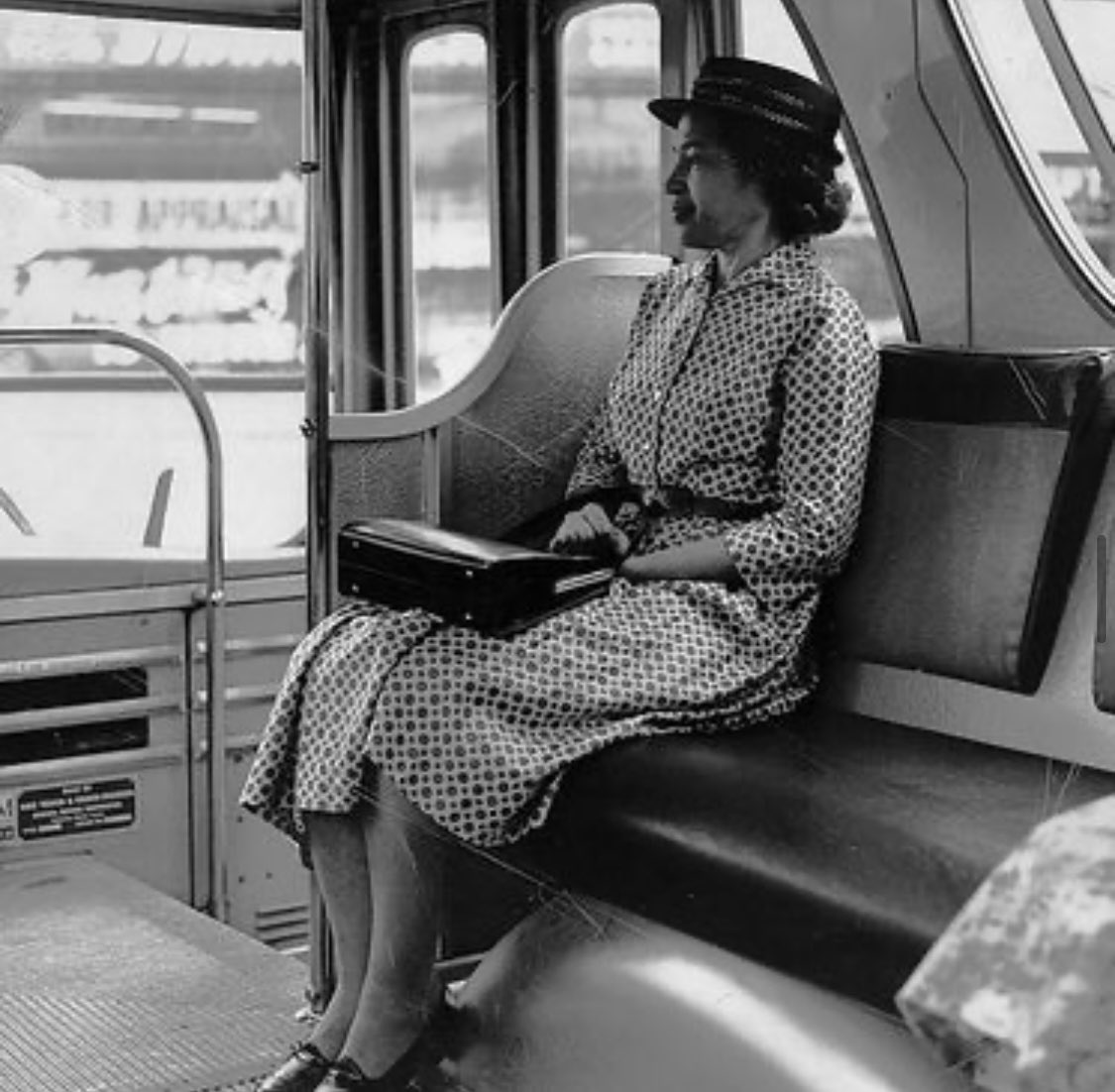 Happy Birthday to a pioneer of women's rights and equality, Miss Rosa Parks. Here she is elegantly poised and on a mission for change...