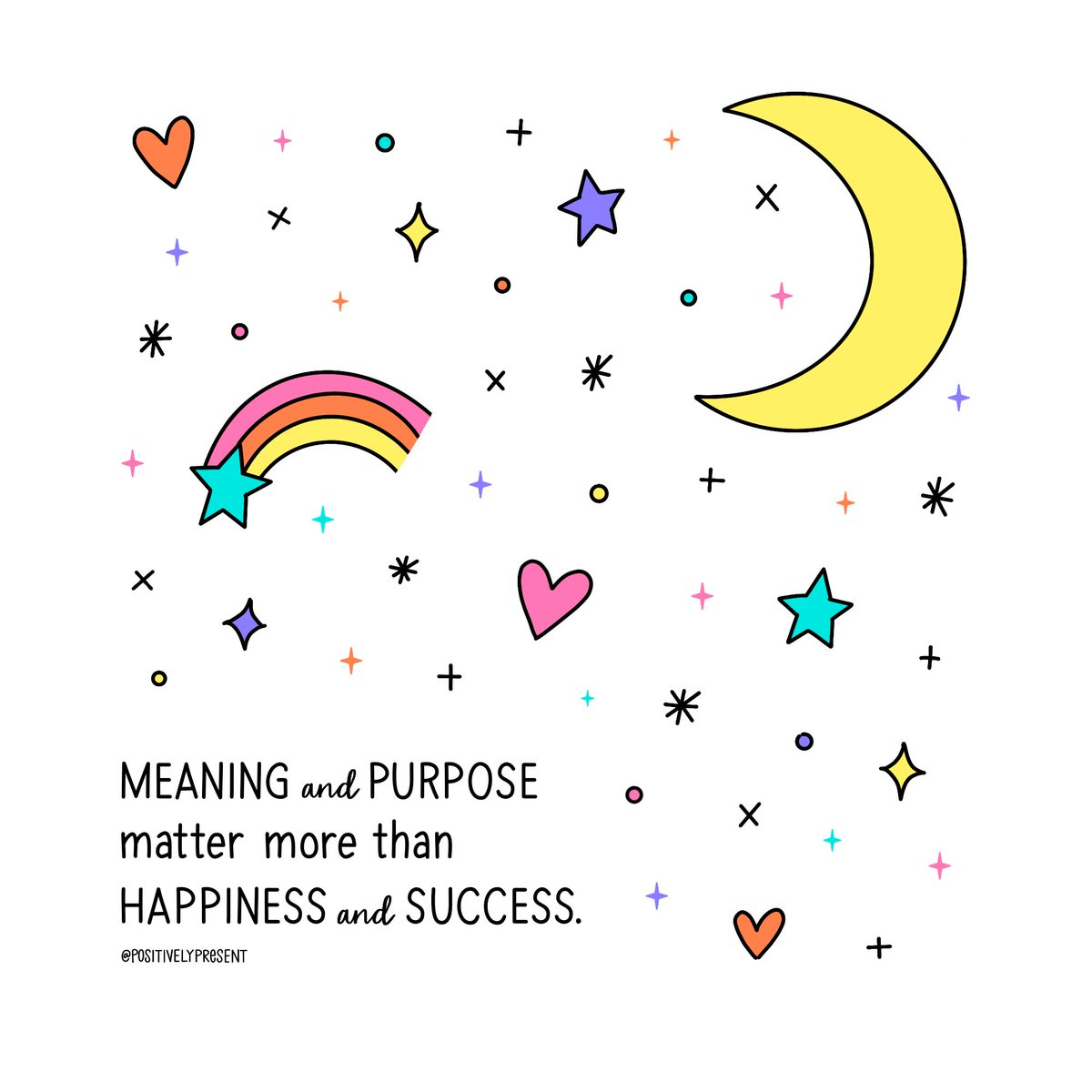 focus on meaning and purpose over happiness and success. 💫