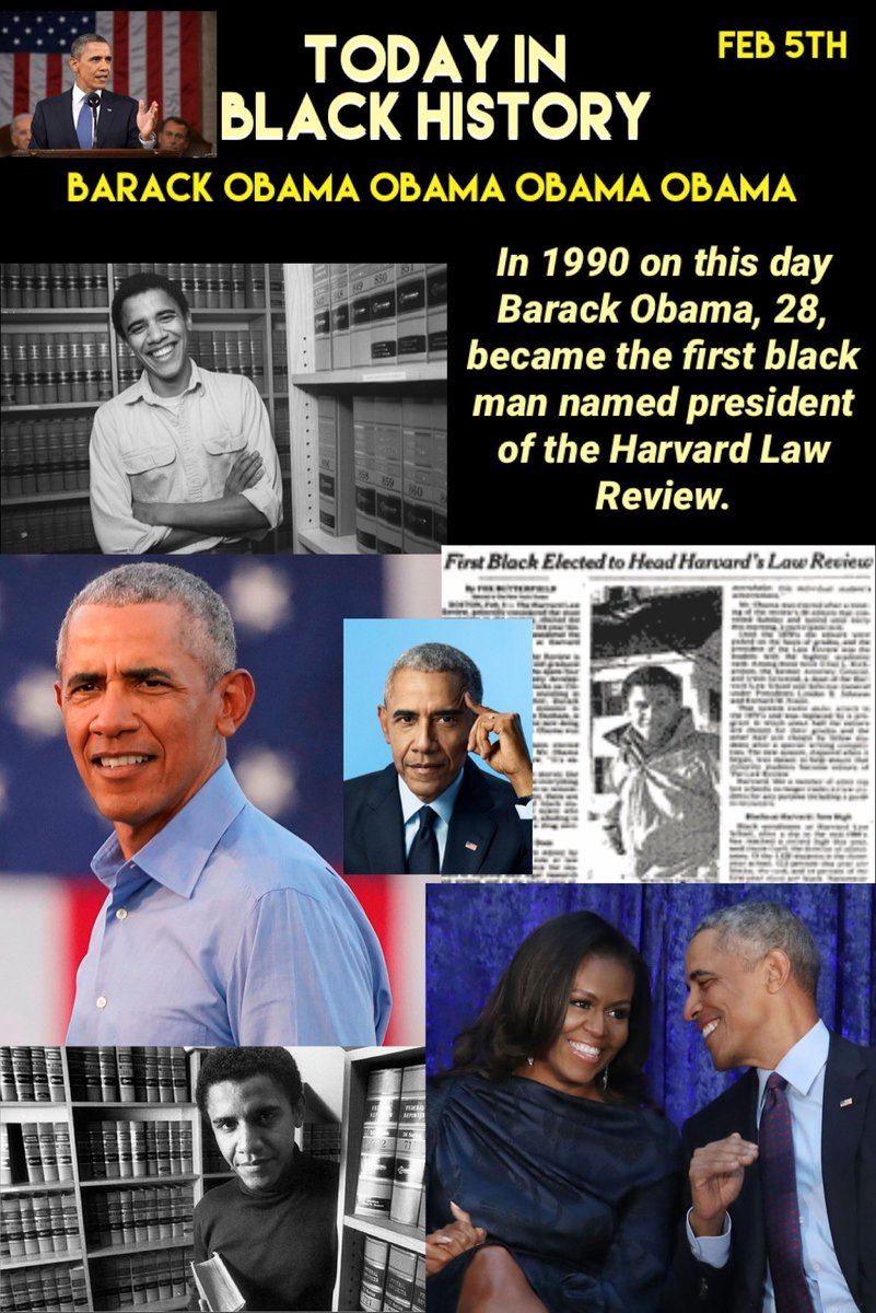 Today in #BLACKHISTORY we celebrate @BarackObama & his contributions to the Harvard Law Review. #barackobama #TodayInBlackHistory #CivilDisobedience #americantreasure #activist #humanitarian #harvard #HarvardLawSchool #AcademicJournalist #president #firstblackpresident #thankyou