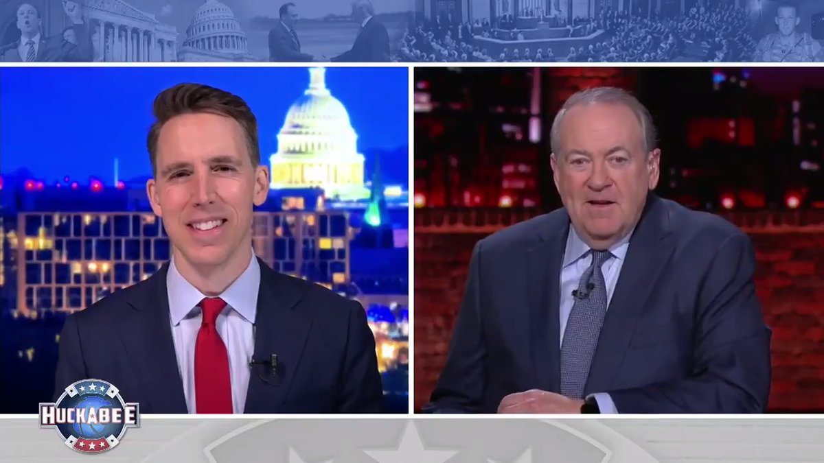"""I'm not willing to bow to the liberal, woke mob.""  This weekend Senator Josh Hawley FIRES BACK at the radical left's agenda.  Tune in at 8/7c this Saturday! 🇺🇸"