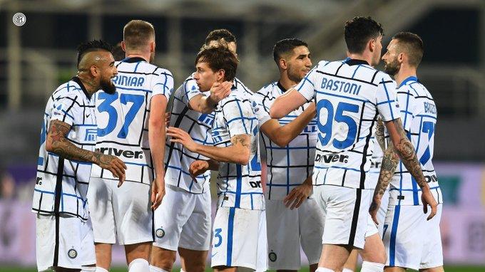 Selebrasi pemain Inter Milan