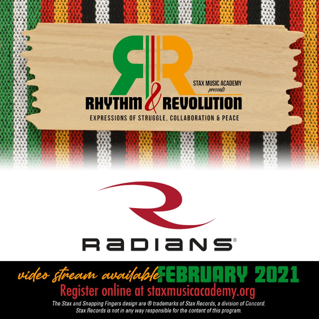 Thank you @RadiansInc for sponsoring Stax Music Academy's 2021 Black History Month Celebration!