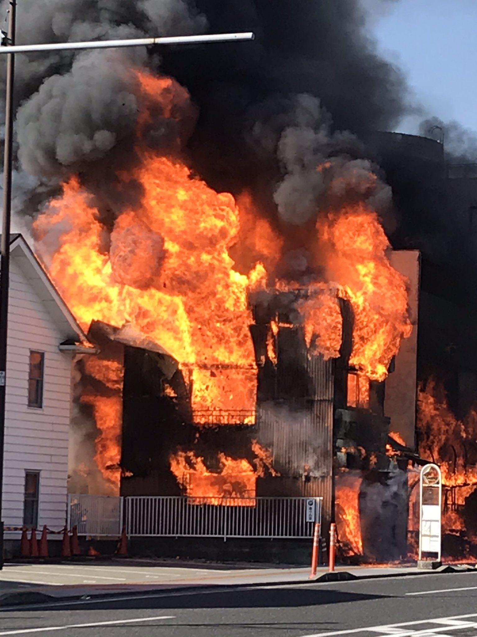 横浜市保土ケ谷区上星川の火災現場の画像