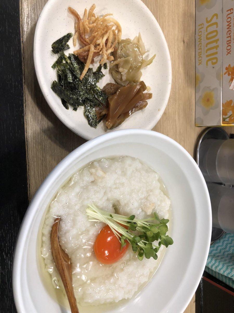 朝粥!今回はガンプラではないです^ ^通ってる大阪 天満のラーメン屋「蓮と凛」さんが最近始めてたので、いただいて来ました!これで400円!薬味も美味しかったです。でもこれ、明日で終了なのでお早めに。#蓮と凛 #朝粥 #ラーメン
