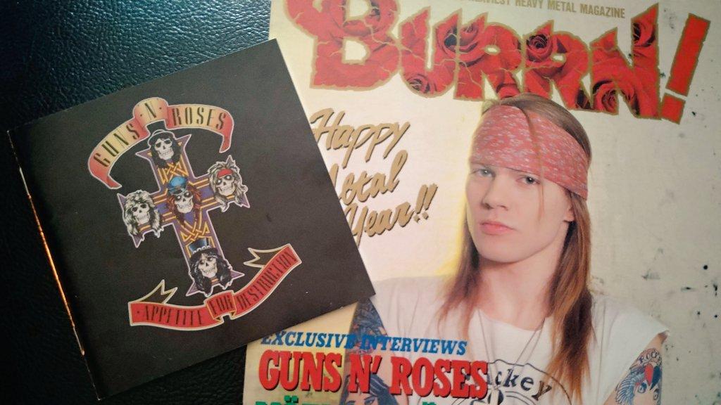 Happy Birthday 🎂#AxlRose !!Axlさん59歳🎉また🇯🇵に来てくださーい🌹初めて買ったB!誌は88年1月号でした😊Nightrain✨