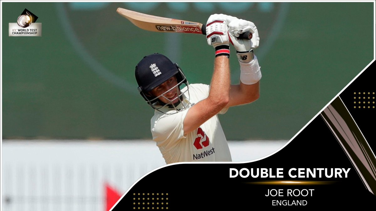 First batsman in the history of Test cricket to score a double century in his 100th Test – JOE ROOT 👏  Sensational innings from the England skipper!  #INDvENG |