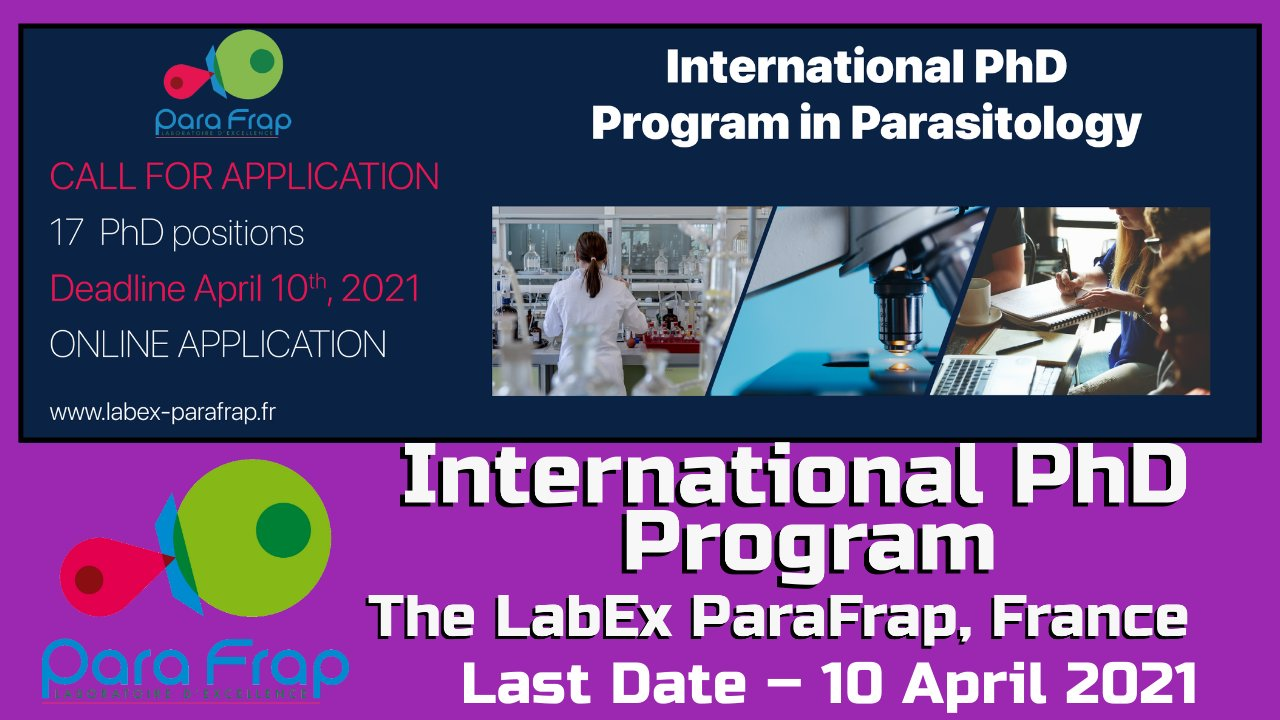 International PhD Program at The LabEx ParaFrap, France