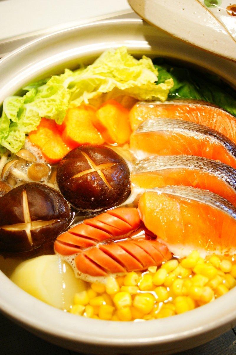 ?鮭と野菜の塩バター鍋?