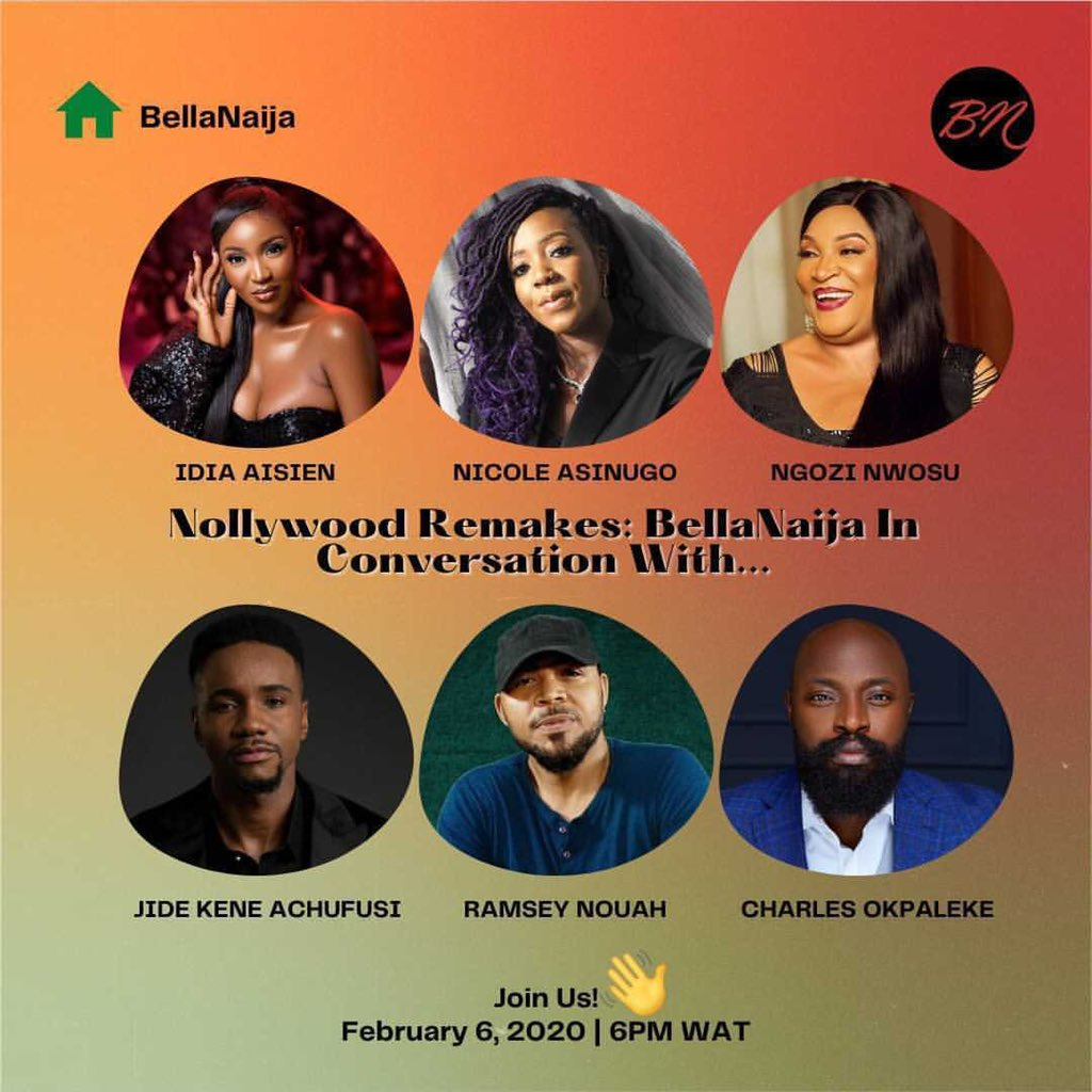 Let's Talk Nollywood 🤩🤩🤩6pm Clubhouse Here's the link