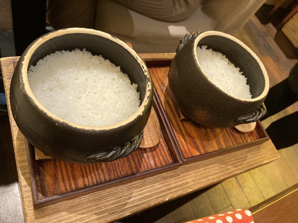 米福✨恵比寿で土鍋ごはん。ご飯の食べ比べができます。おまかせコースでお腹一杯。余った土鍋ごはんはお持ち帰りできます。