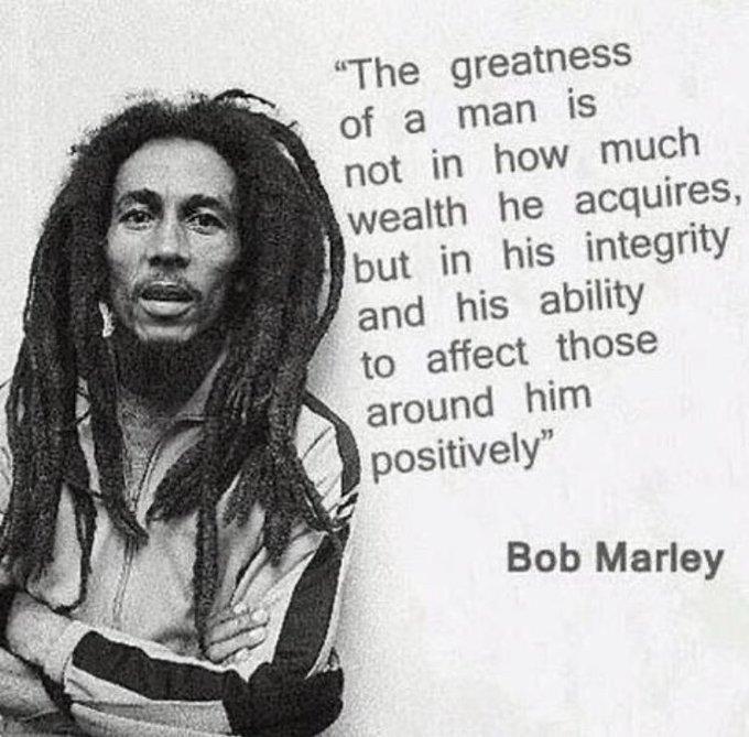 Happy Birthday to Bob Marley.