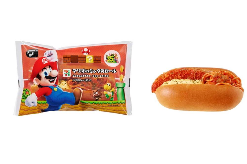 「スーパーマリオブラザーズ」セブン‐イレブン限定メニュー、スター型寒天&マリオの菓子パンなど -