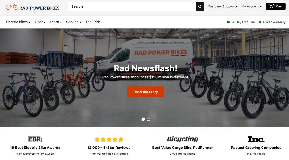 電動自転車メーカー「Rad Power Bikes(ラッドパワーバイクス)」が新型コロナを追い風に約158億円調達 | TechCrunch Japan