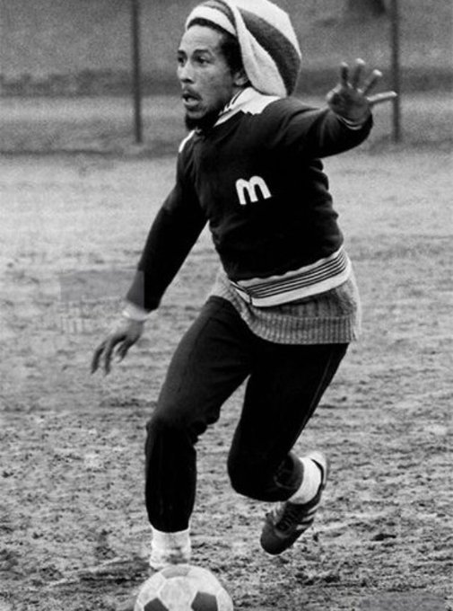 Happy Birthday Bob Marley. Playing footy in Battersea Park. I Played so many matches on that Pitch .