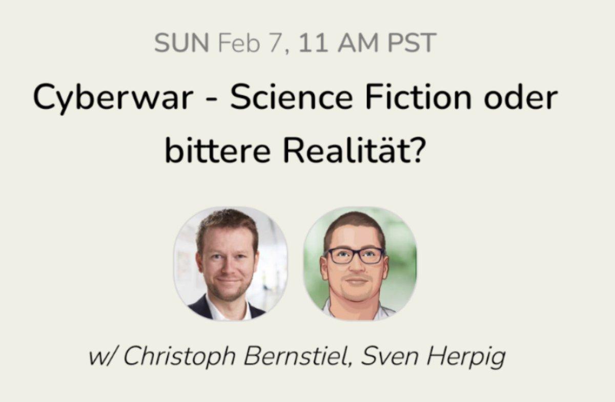 Sonntag um 20 Uhr diskutiere ich mit @c_bernstiel über