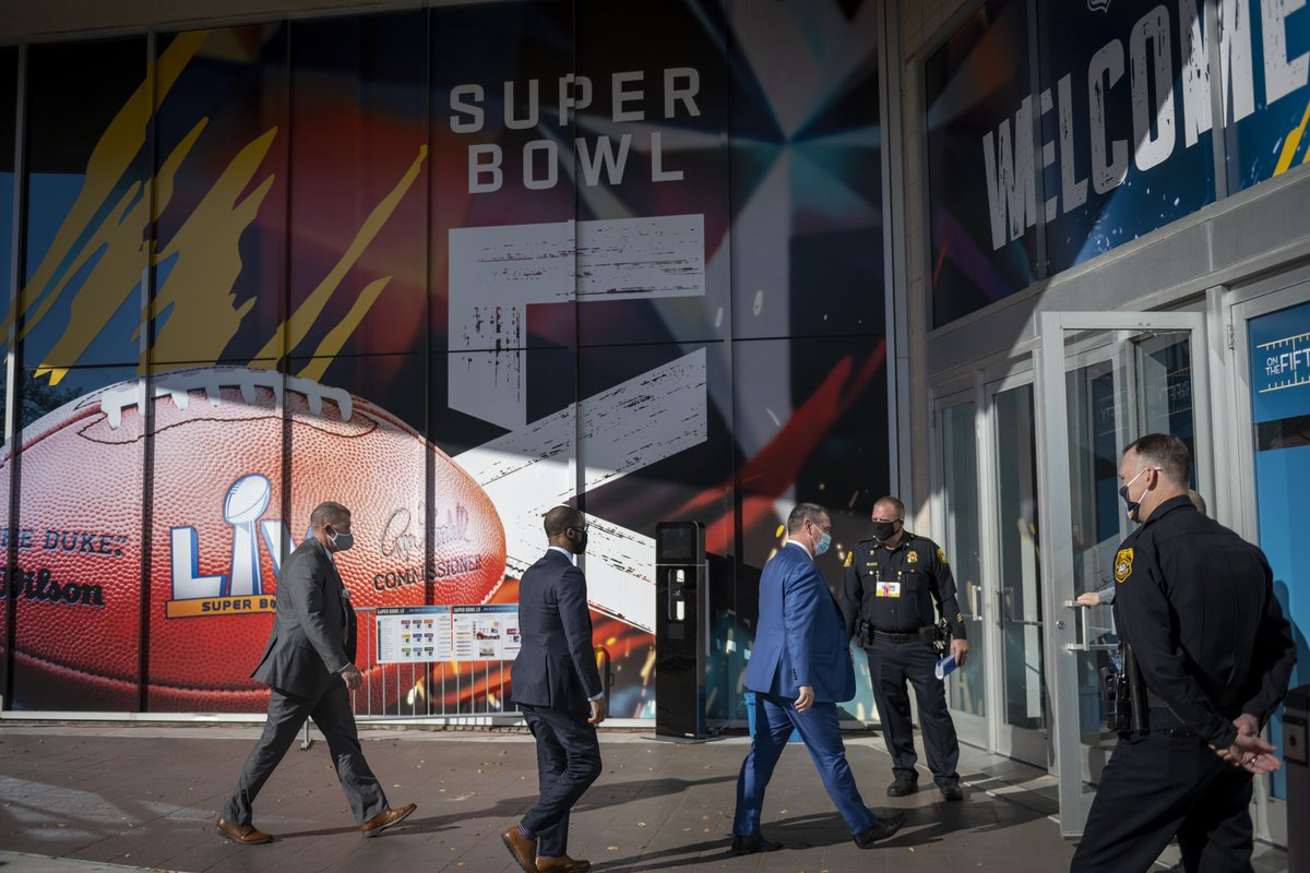 Over 500 #DHSgov personnel are working with federal, state, and local partners to secure the #SuperBowl tomorrow. We're focused on ensuring the safety and security of players, employees, and fans. Learn more:  #SuperBowl2021 #SuperBowlLV