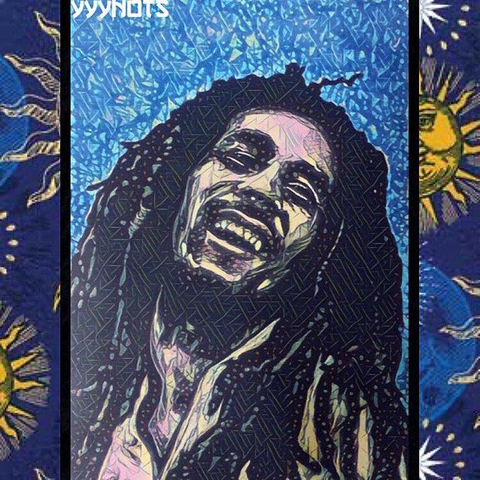 Happy Birthday Bob Marley!     Scratchboard x Acrylic