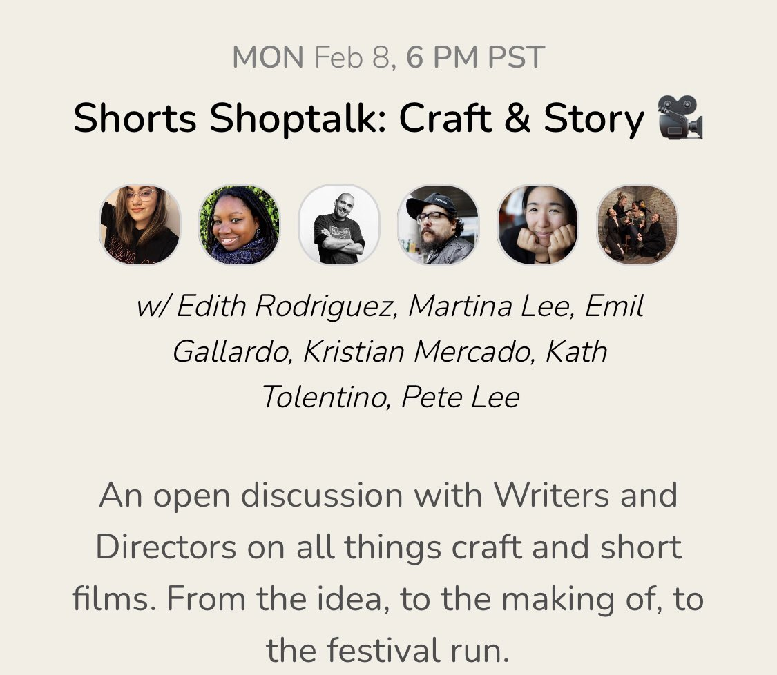 Hey y'all 👋🏼 I'll be chatting with some incredibly talented Directors on Mon Feb 8th at 8:00 PM CST. Don't miss this one! Add it to your calendar here: