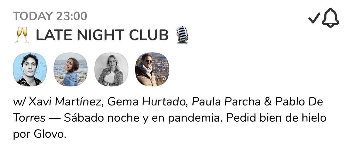 POR FIN ESTO en #clubhouse ❤️✨🎙 @xavimartinez @PabloDeTorresFM @paulaparcha @Gemahurtado_ MENUDA FANTASÍA, amigos!!!!!