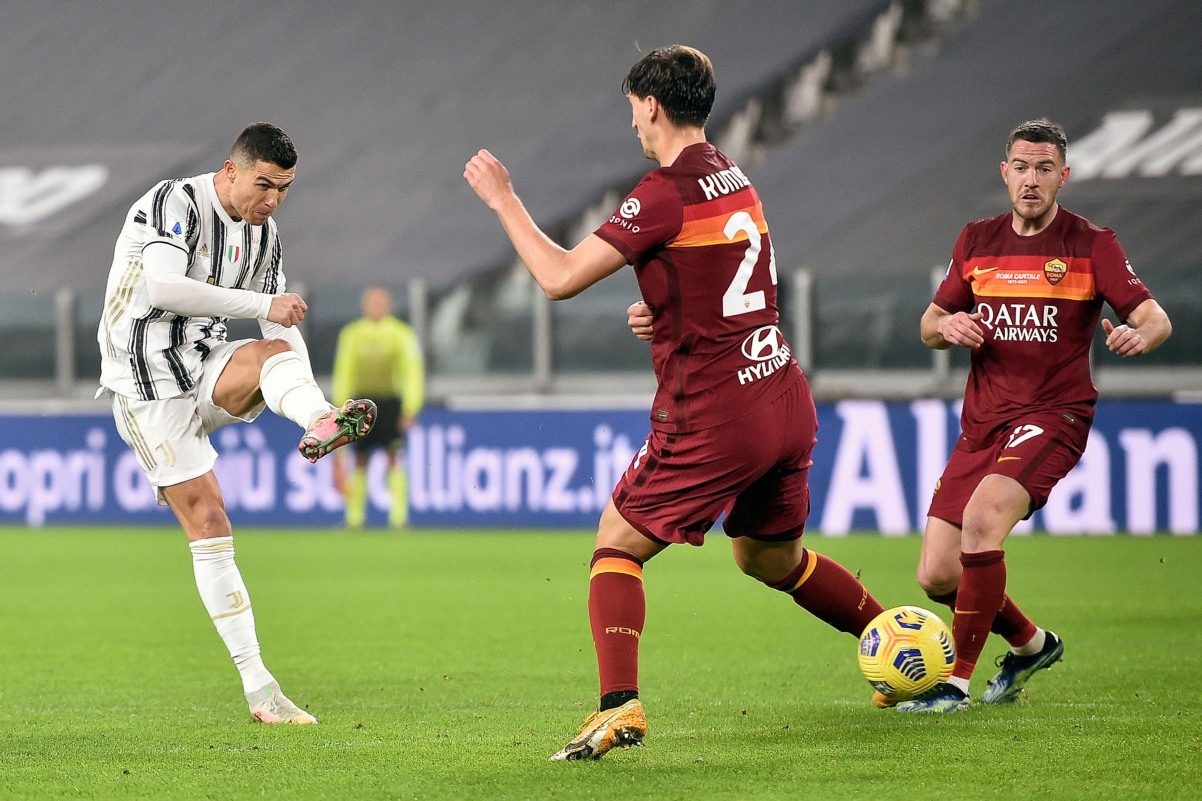 بأقدام رونالدو يوفنتوس يعبر روما بهدفين نظيفين في الدوري الإيطالي