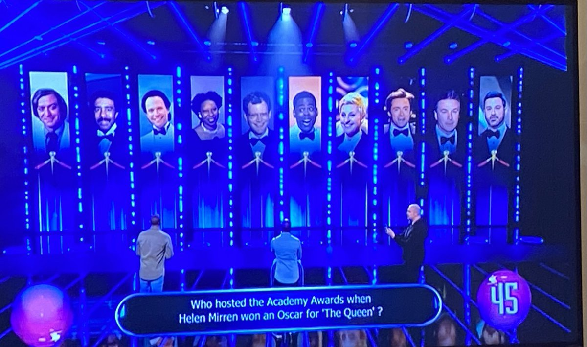 When BBC 1's Catchpoint has an Oscars related category and you see @RealHughJackman in the line up 😁 Sadly they didn't ask a question from his year of hosting though 😔 #hughjackman #besthostever