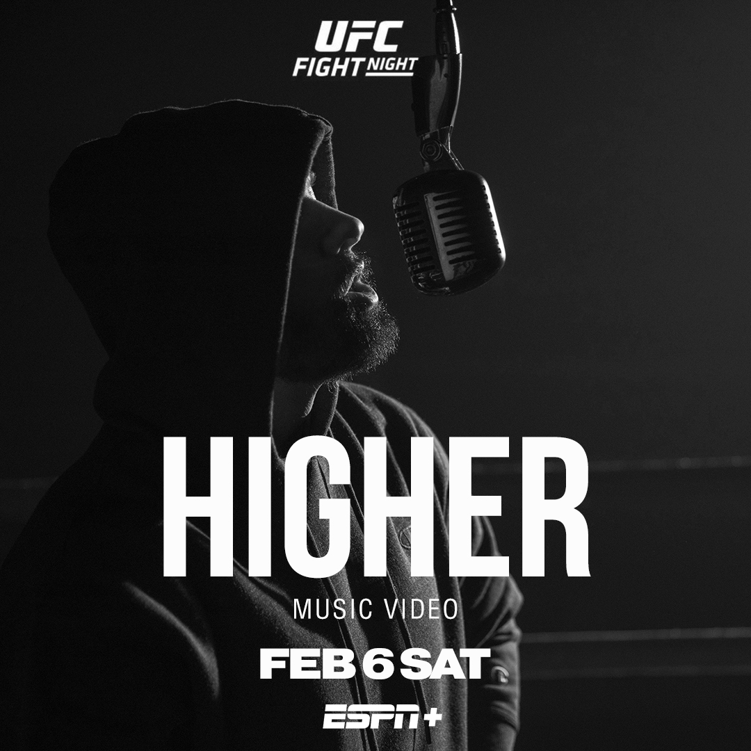 It's fight night again!  Tonight catch an airing of the #Higher video before the main event @ufc @espnmma