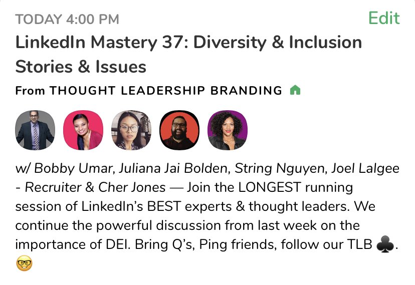 We go live in 30 min‼️Join us on #Clubhouse to discuss #DiversityandInclusion ❇️ LINK: #ClubHouseApp #LinkedIn #DEI