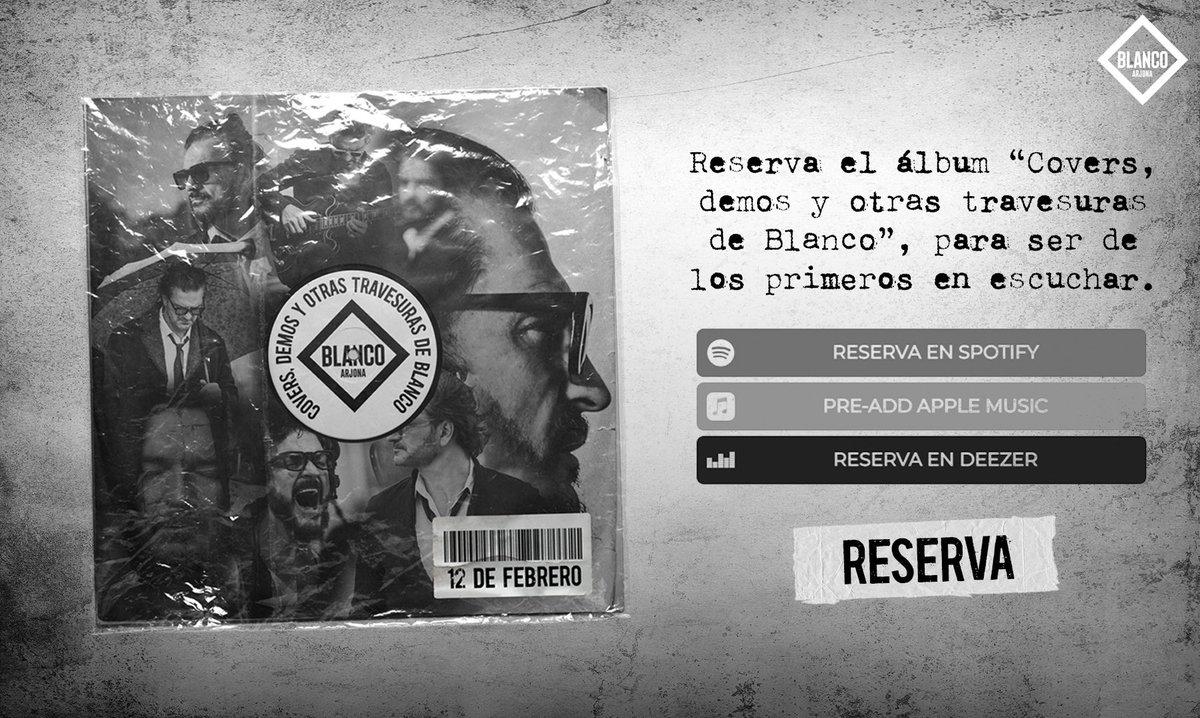 """Reserva y sé de los primeros en escuchar """"Covers, demos y otras travesuras de Blanco"""" 👉🏼👉🏼   #travesurasBlanco"""