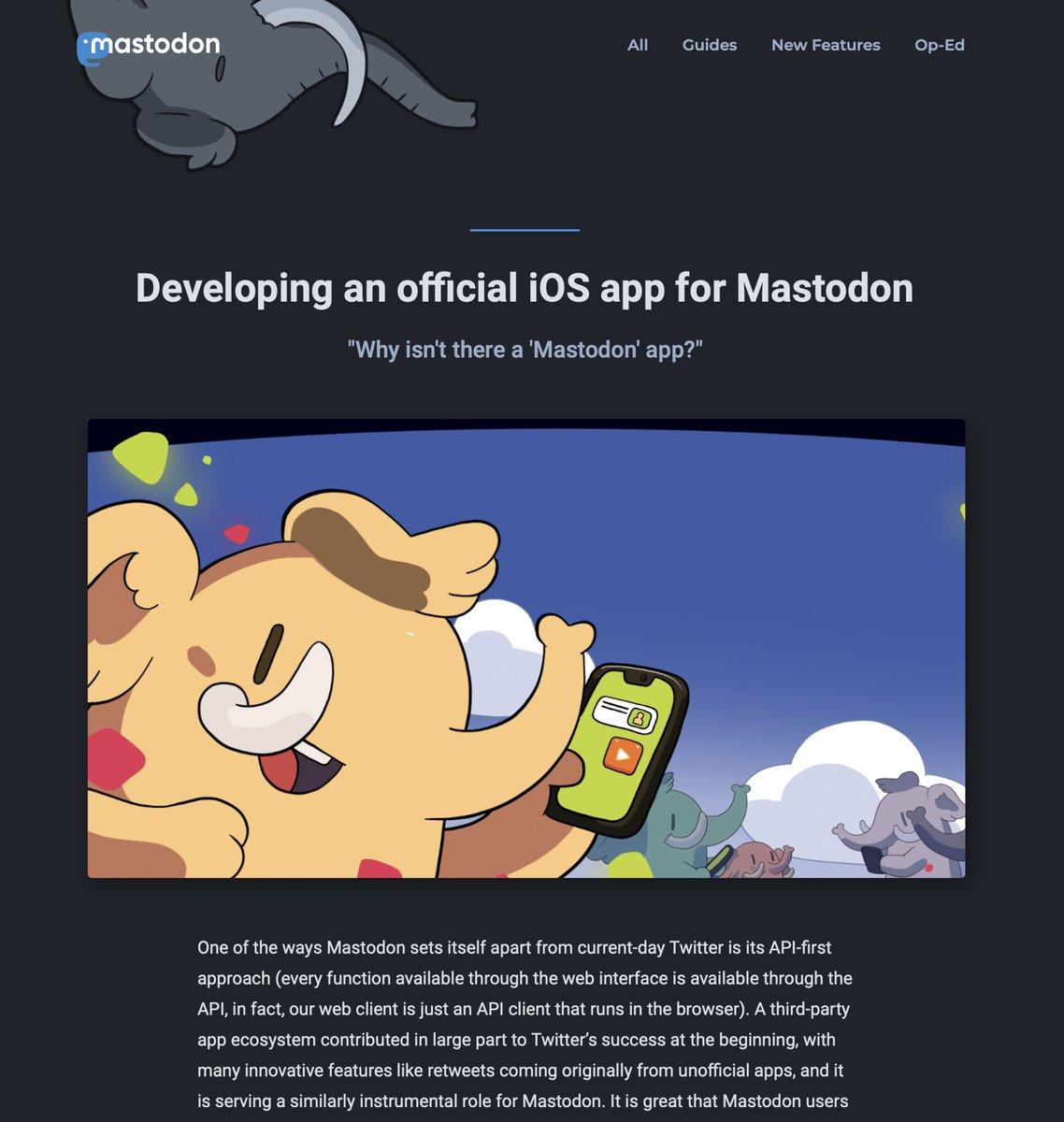 非中央集権SNS「マストドン」初の公式iOSアプリ、今夏リリースへ
