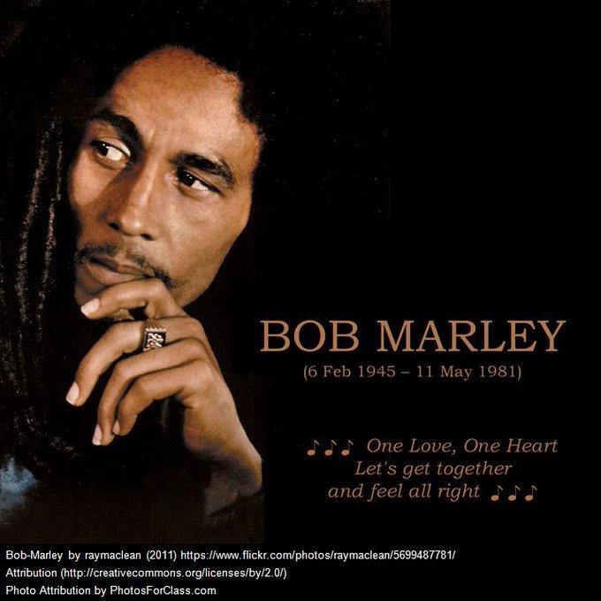 Happy Birthday to the reggae legend and visionary, Bob Marley!
