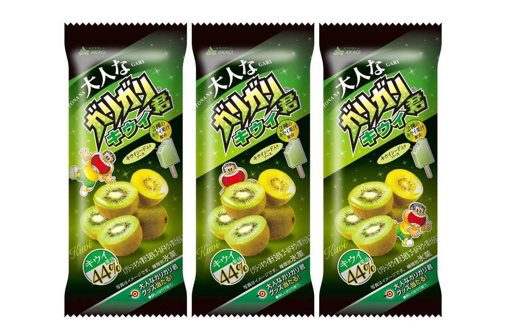 「大人なガリガリ君キウイ」全国で、2種のキウイ果汁44%×プチプチ食感キウイシードのアイス -