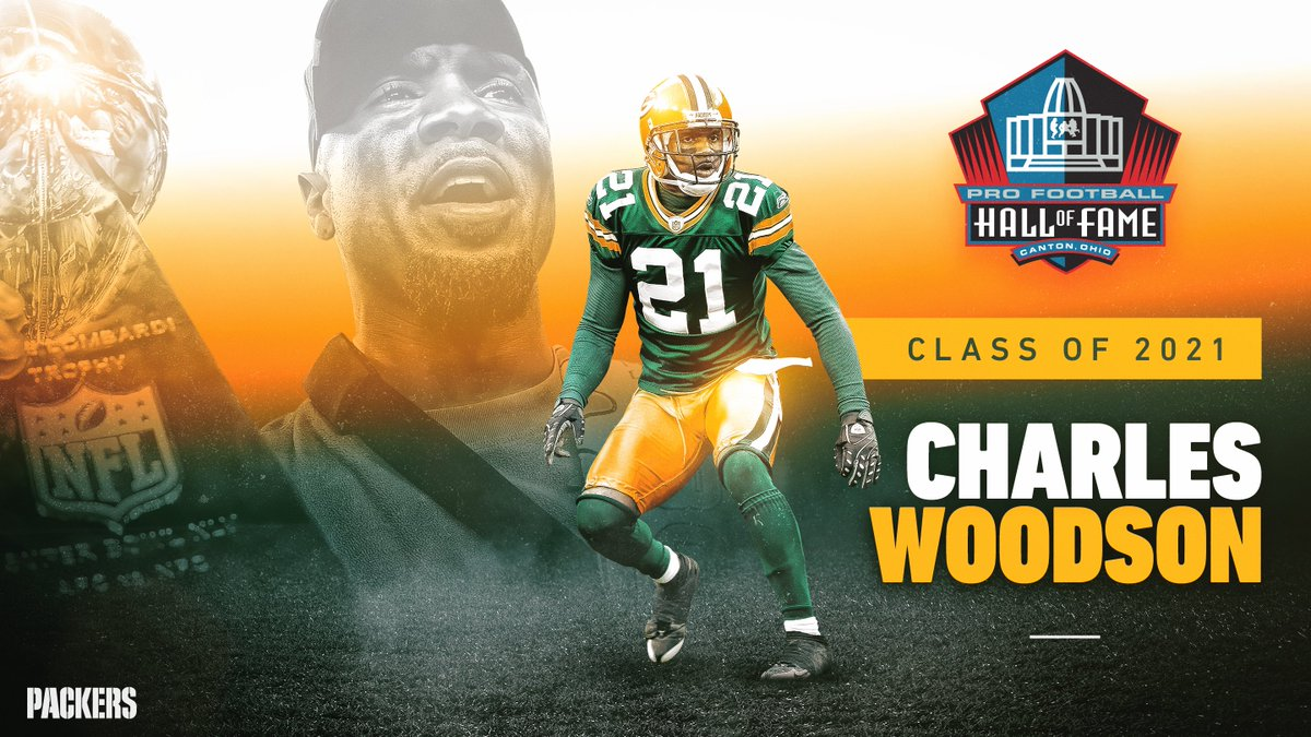 First-ballot Hall of Famer.   @CharlesWoodson is headed to Canton! 📰:    #PFHOF21 | #GoPackGo